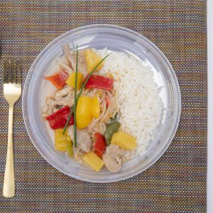 Sweet & sour pork with rice 400g (Gluten & Dairy free)